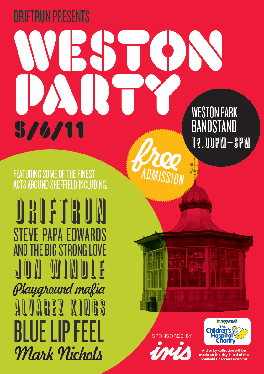 6154 1 Weston Party 2011 Poster AW | Weston Party: Weston Park, Sheffield